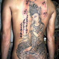 背中・抜き彫り・普賢菩薩1