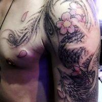 鳳凰・桜・刺青