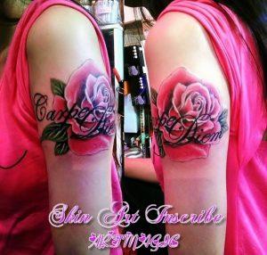 薔薇・英字・女性
